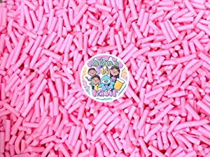 50g Colorful Fake Candy Sweets Sugar Crystals Sprinkles Decoden Resin Cabochons Decorations for Fake Cake Dessert Simulation Food Fake Dessert Polymer Clay (Pink Clay Sprinkle Mix)