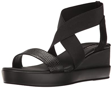 Tahari Womens TaPrince Open Toe Casual Platform Sandals BlackWhite Size 50