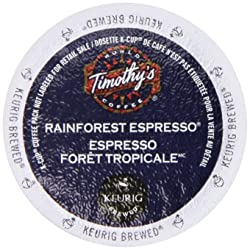 Timothy's World Coffee Rainforest Espresso K-Cup