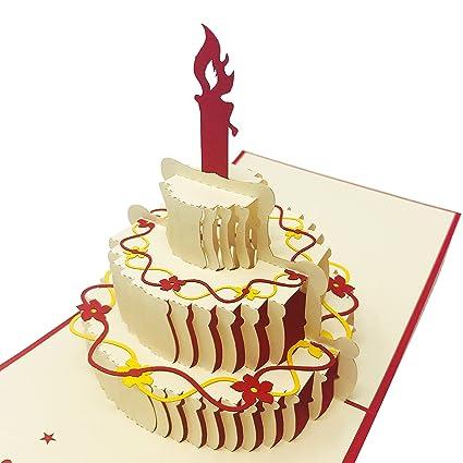 WOW - Vela de cumpleaños 3D para tartas de cumpleaños ...