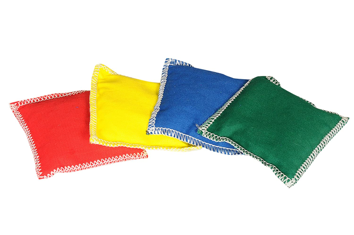 GSI Multicolor Set of 4 Cotton Toss Bean Bag OverLock Stitched for Activity Games and Primary Education - Pack of 4 (5 inch)