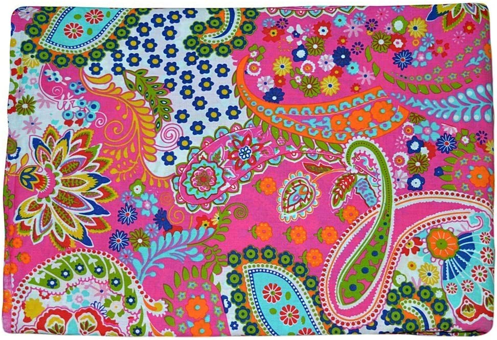 """Cotton Material 44 Wide Indian Light Weight Fabric Crafting Sewing By 1 Yard/"""""""