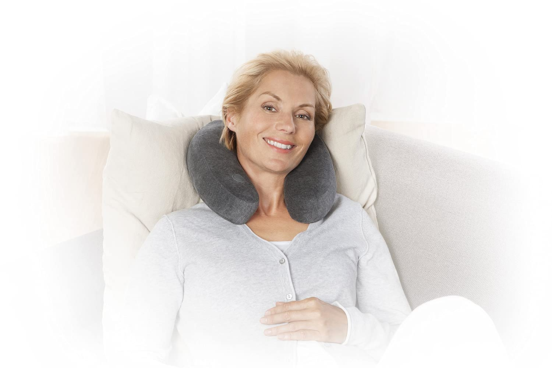 massage par vibration 88946 Medisana NM 870 Coussin de massage pour nuque rev/êtement en tissu polaire extra doux et moelleux id/éal pour les d/éplacements