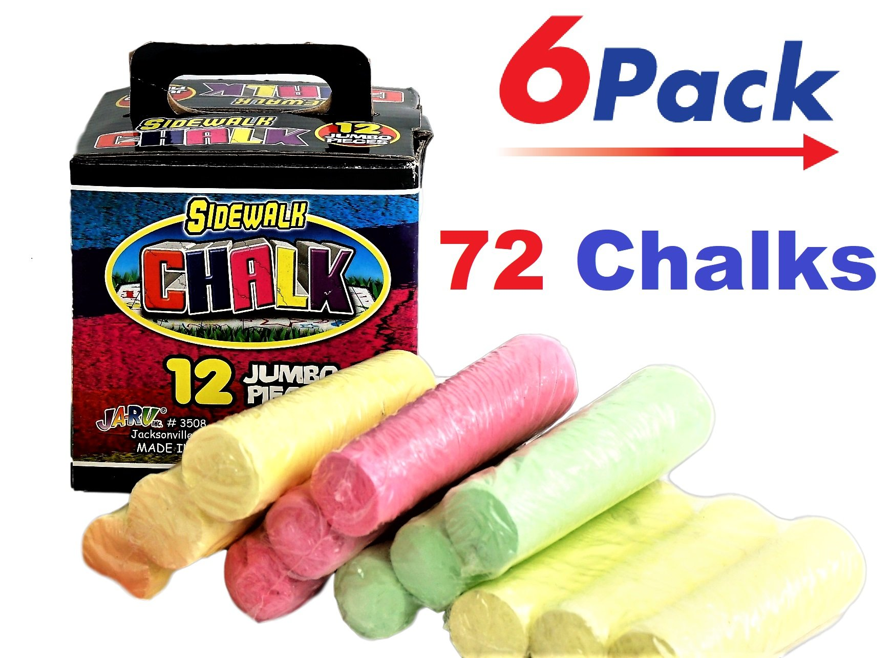 Chalk (72 Count) JA-RU | Chalks 6 Boxes 12 | Item #3508-6