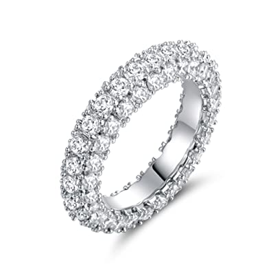 milgrain zirconia ring cz silver dp eternity com amazon band sz vintage bands sterling cubic