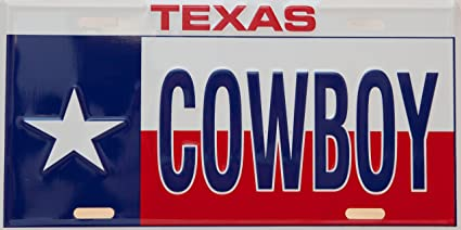 Amazon com: Texas Cowboy License Plate: Home & Kitchen