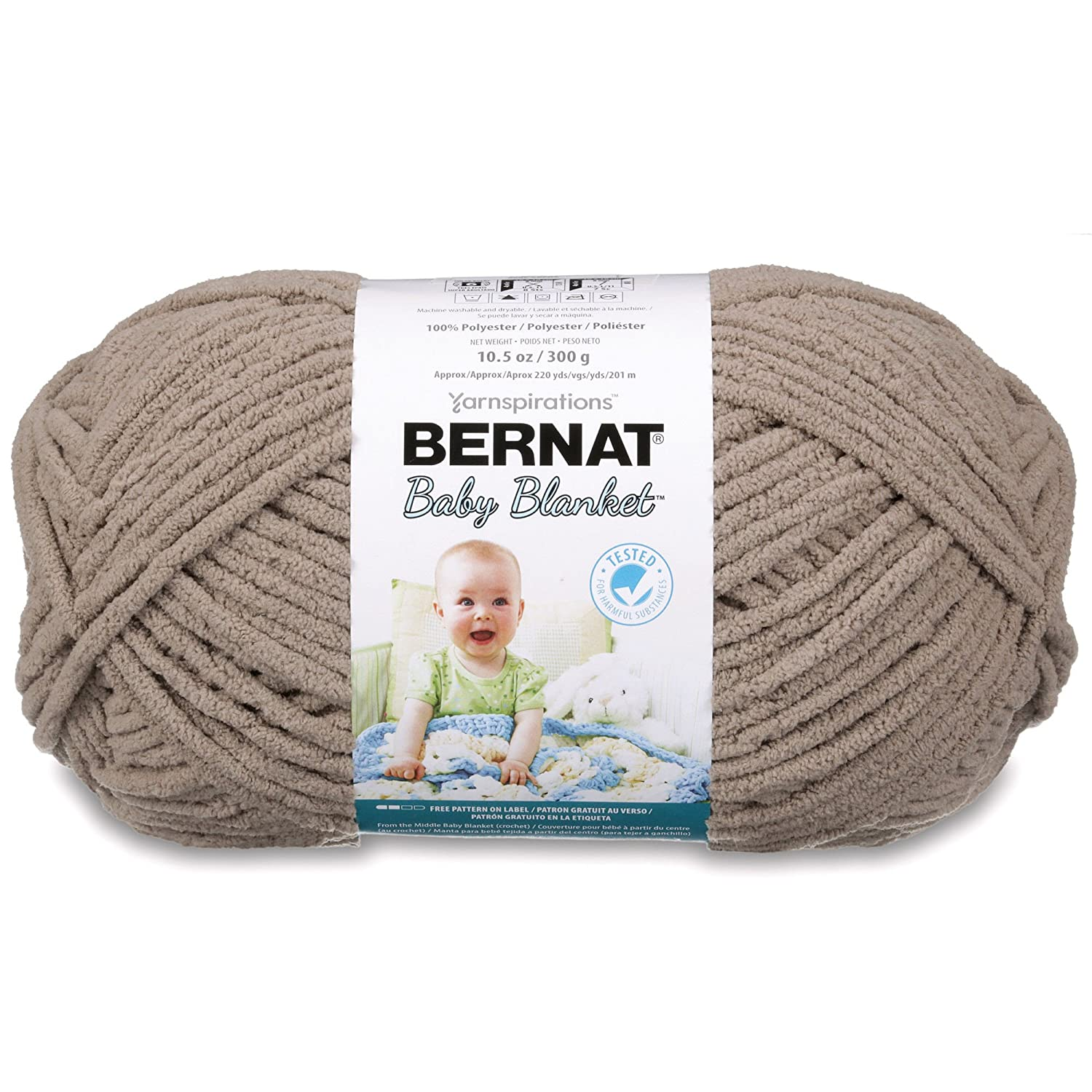 Amazon.com: Bernat Baby Blanket Yarn - (6) Super Bulky Gauge - 10.5 ...