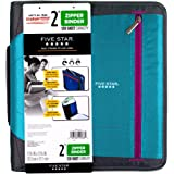 Five Star Zipper Binder, 2 Inch 3 Ring Binder, File Folders, Royal Purple / Aqua (29036BD7)