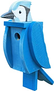 product image for DutchCrafters Wood Bird Shaped Birdhouse (Bluejay)