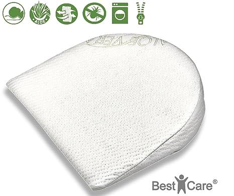 BestCare® - Hecho en la UE, Almohada de bebé en 4 tamaños de alta calidad, alivio de presión y activ transpirable. Se encaja en cunas, paseantes, ...