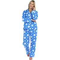 PajamaMania Womens Sleepwear Flannel Long Sleeve Pajamas PJ Set