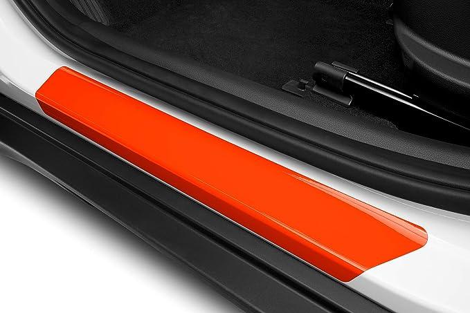 Luxshield Einstiegsleisten Schutz Für Auto I10 2 Ii Ia I 2013 2019 Schutzfolie Autotür Zubehör Zierleisten Lackschutzfolie Carbon Schwarz Auto