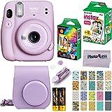 Fujifilm Instax Mini 11 Instant Camera - Lilac Purple (16654803) + Fujifilm Instax Mini Twin Pack Instant Film (16437396) + S