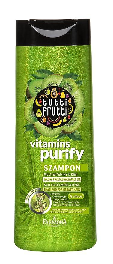Pelo Ropa Tutti Frutti Kiwi, Vitamina Champú 400 ml, Características: Los Restos,