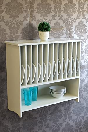 excellent gloucester wooden wall mounted plate rack with shelf kitchen storage pearl white painted with wood plate racks for walls & Wood Plate Racks For Walls. Using Wood Glue I Attached The Molding ...
