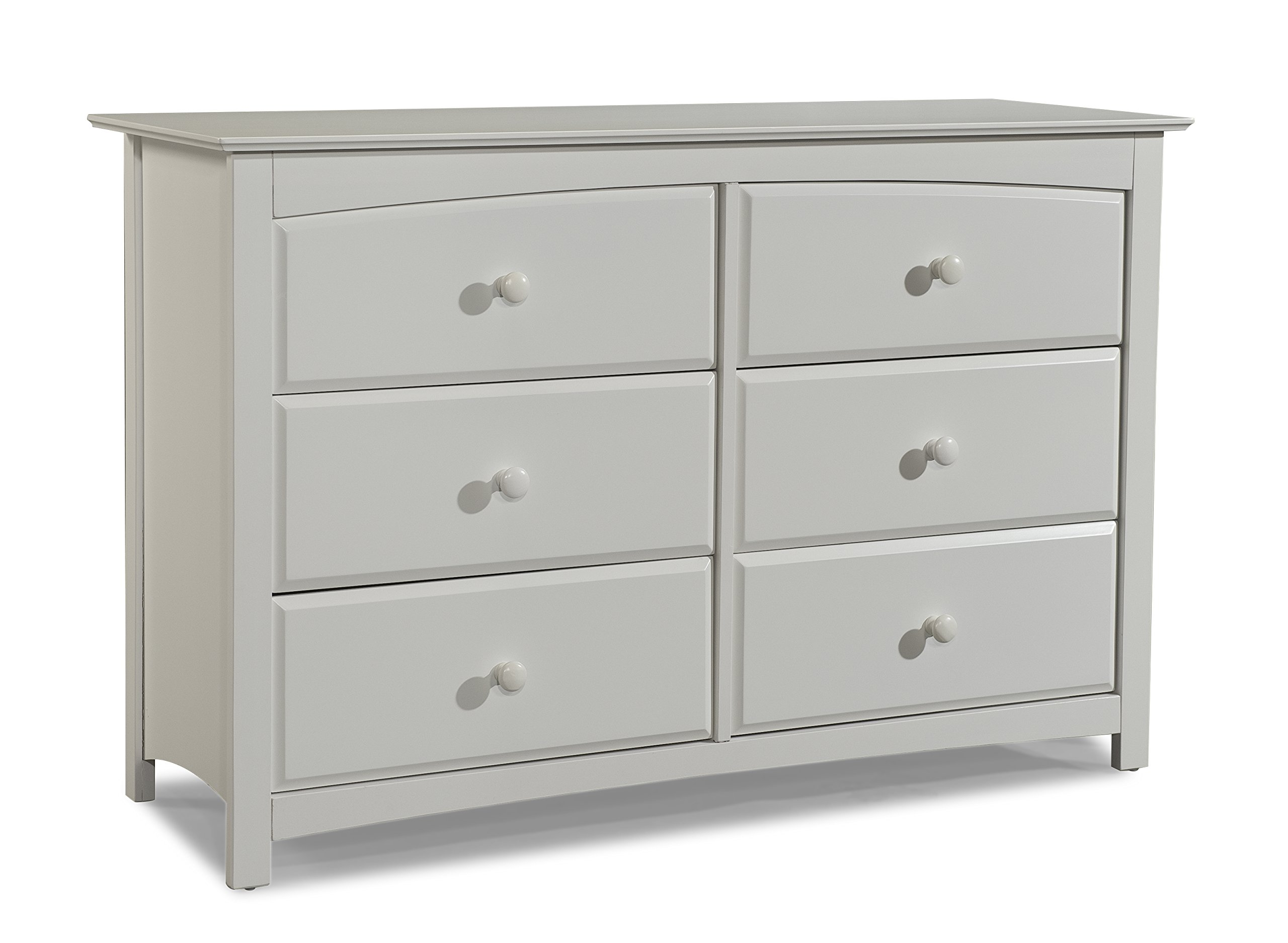 Stork Craft Kenton 6 Drawer Universal Dresser, White