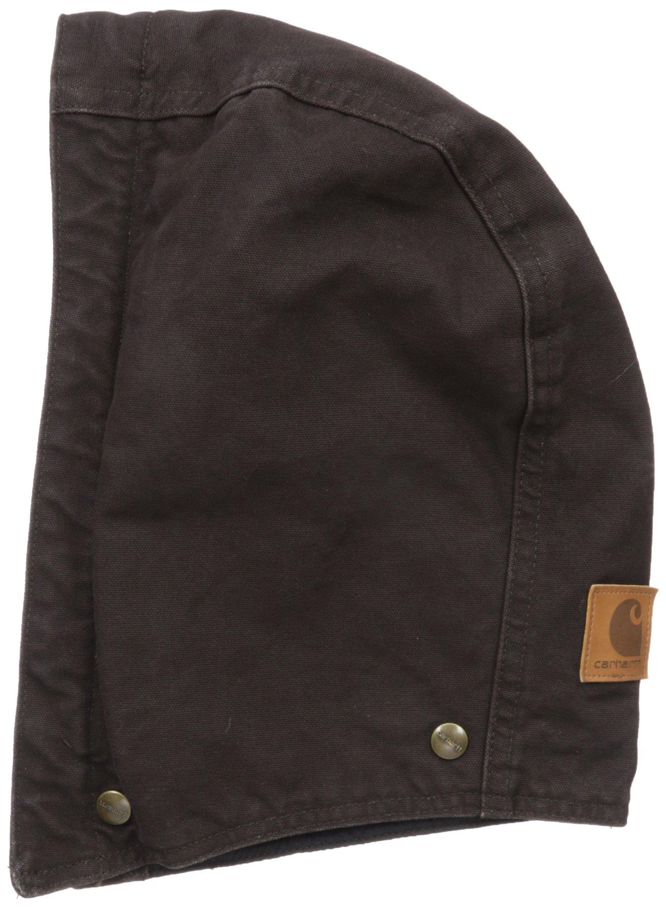 Carhartt Men's Quilt-Lined Sandstone Hood, Dark Brown, SM-XL