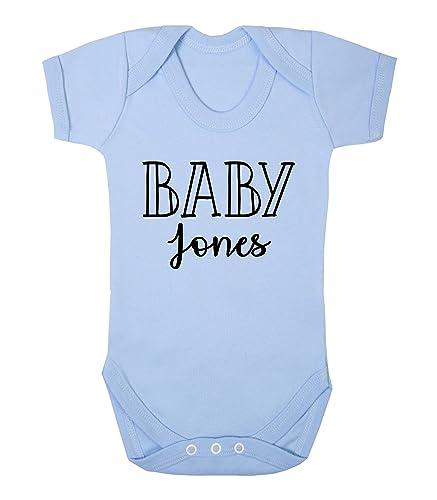 Personalised baby surname baby vest babygrow new baby gifts personalised baby surname baby vest babygrow new baby gifts newborn baby gifts personalised babywear hospital outfit negle Choice Image