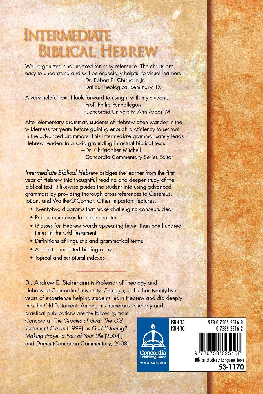 Workbooks god and family student workbook pdf : Intermediate Biblical Hebrew: Andrew E Steinmann: 9780758625168 ...