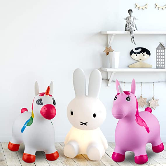 Relaxdays- Saltador Hinchable Unicornio para Niños hasta 50 Kg sin ...