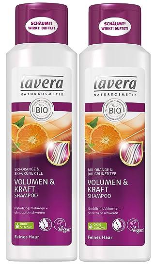 Lavera Haar Shampoo Volumen Kraft Orange Grüner Tee Feine