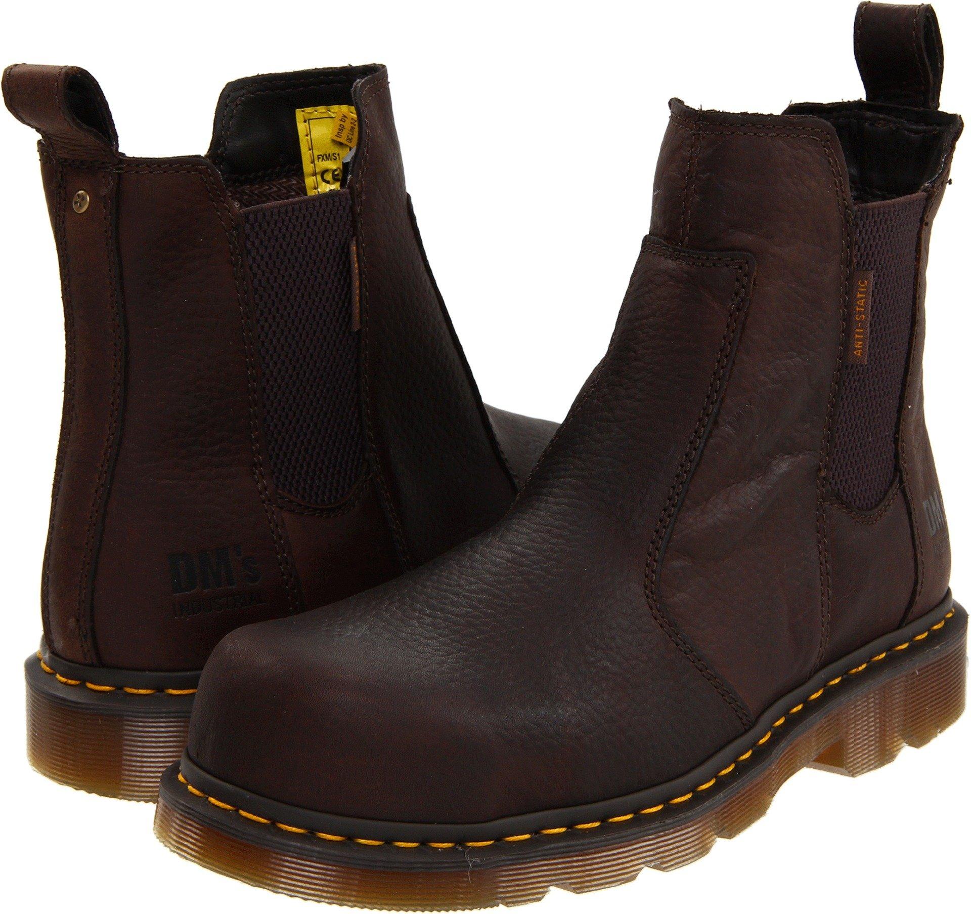 Dr. Martens Men's Fusion Safety Toe Chelsea Boot,Bark,11 UK/12 M US