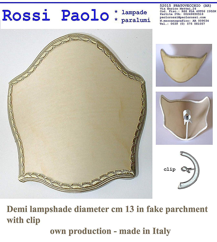 Abat-jour demi voile modèle écusson cm 13 une pièce Paolo Rossi