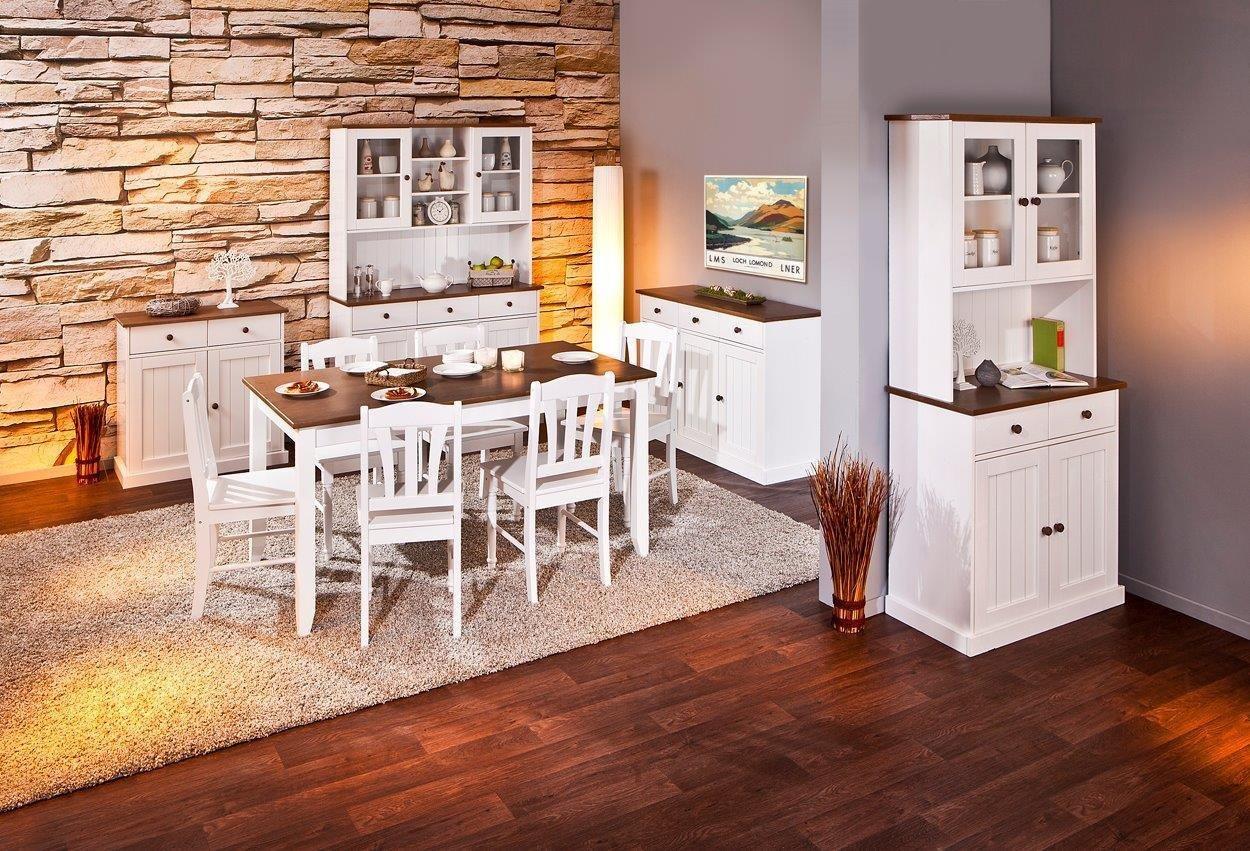 Esidra Bentonville Anrichte 5 Türen und 3 Schubladen, Holz, Weiß ...