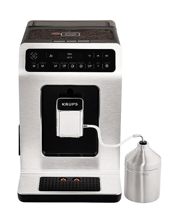 Krups - Cafetera automática de Evidence One Touch de capuchino, OLED de panel con pantalla táctil, 2.1 L, metal: Amazon.es: Hogar