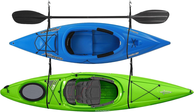 2029 Double Kayak Storage Strap GarageCanoe Hoists 100 lb Capacity