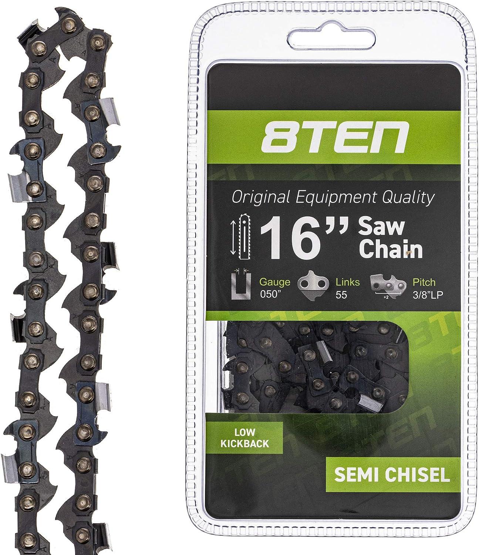"16/"" Oregon Chain 91VXL055 3//8 .050 55 DL Chainsaw Chain STIHL MS 193 T 193T"