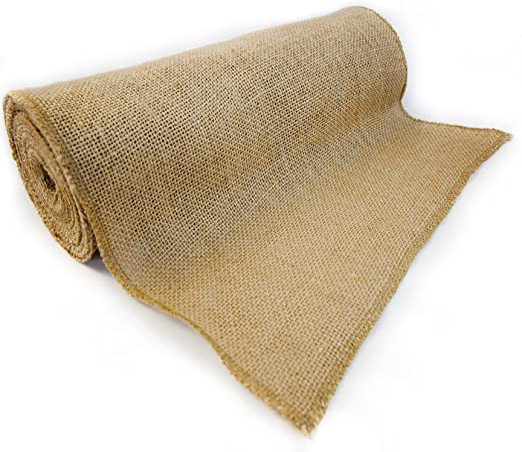 3 Rolls Of Burlap Ribbon 100/% Jute Wedding Craft Fall Holiday 12in x 10ft each
