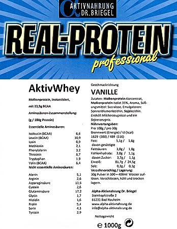Nährwertangaben von Molkenprotein zur Gewichtsreduktion