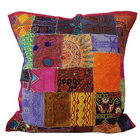 Cojín india cubierta de algodón Kutch Décor casero Tire ...