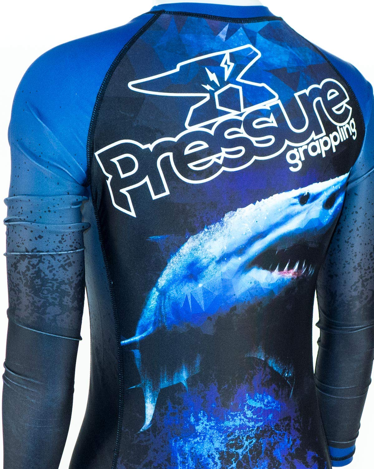 Pressure Grappling Women's Premium BJJ Long Sleeve Rash Guard with Lockdown Band (Hakari, Extra Large) by Pressure Grappling