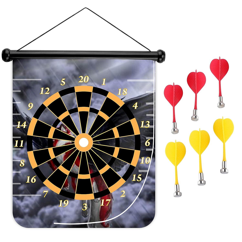 15インチMagnetic Dart Board Double Sided Hanging Dart Board Set and Bullseyeゲーム。Flying Fox B079CD8QQR
