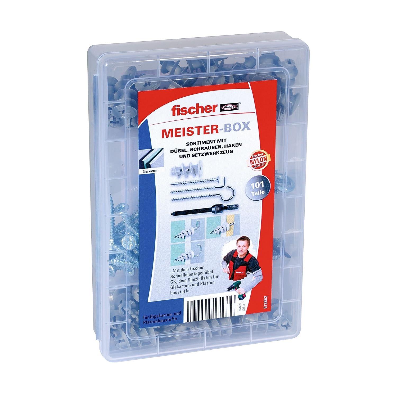 Fischer SX Dü bel Sortiment Box, Grö ß e 6/8/10, 132 tlg. Fischerwerke GmbH & Co. KG 041648