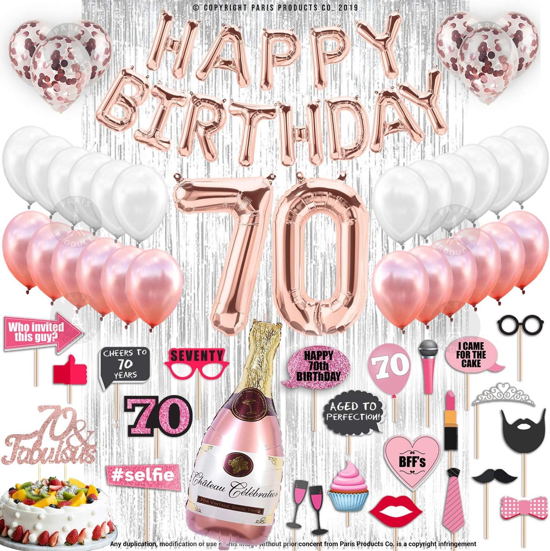 70 /& Fabulous 70th Birthday Tumbler 20 oz White Stainless Steel Party Supplies 70th Birthday Gift idea 70th Birthday Decorations 70th Birthday Party Supplies for Girls