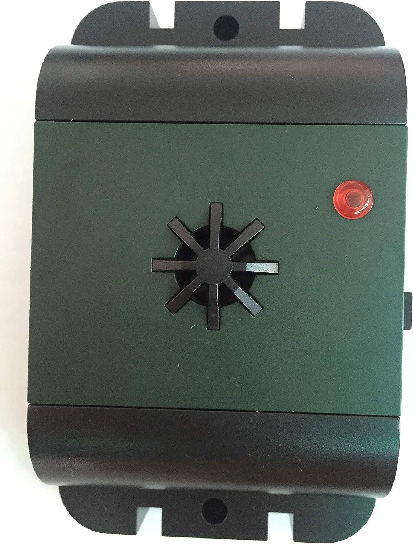 ISOTRONIC® Defensa de Palomas, Espantapájaro para el balcón, Alimentado por batería, Protección por ultrasonido y con Alto Alcance