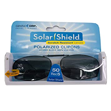 f2b9449d02 Image Unavailable. Image not available for. Color  Solar Shield Polarized  Clip on Sunglasses full frame size ...
