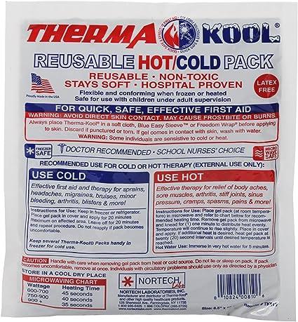 Amazon.com: thermacool reutilizable frío y calor Pack cada 8 ...