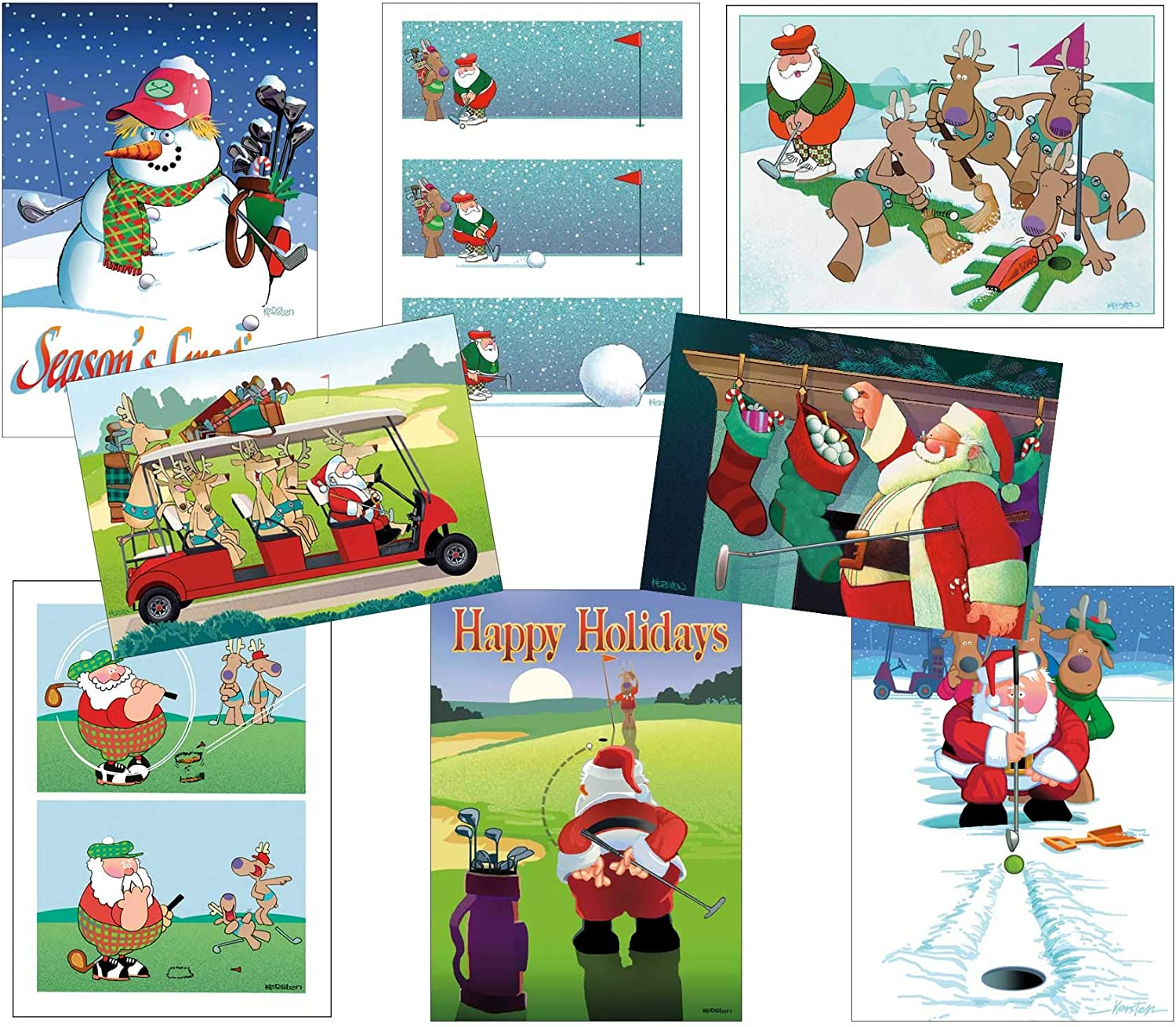 Golf Christmas Card Variety Pack 24 Cards & Envelopes by Stonehouse Collection: Amazon.es: Salud y cuidado personal
