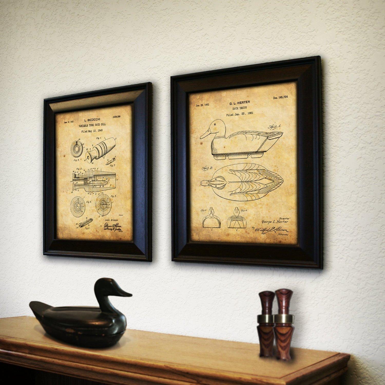 Amazon.com: 2 pc Framed Modern Patent Set - Duck Hunter 14\