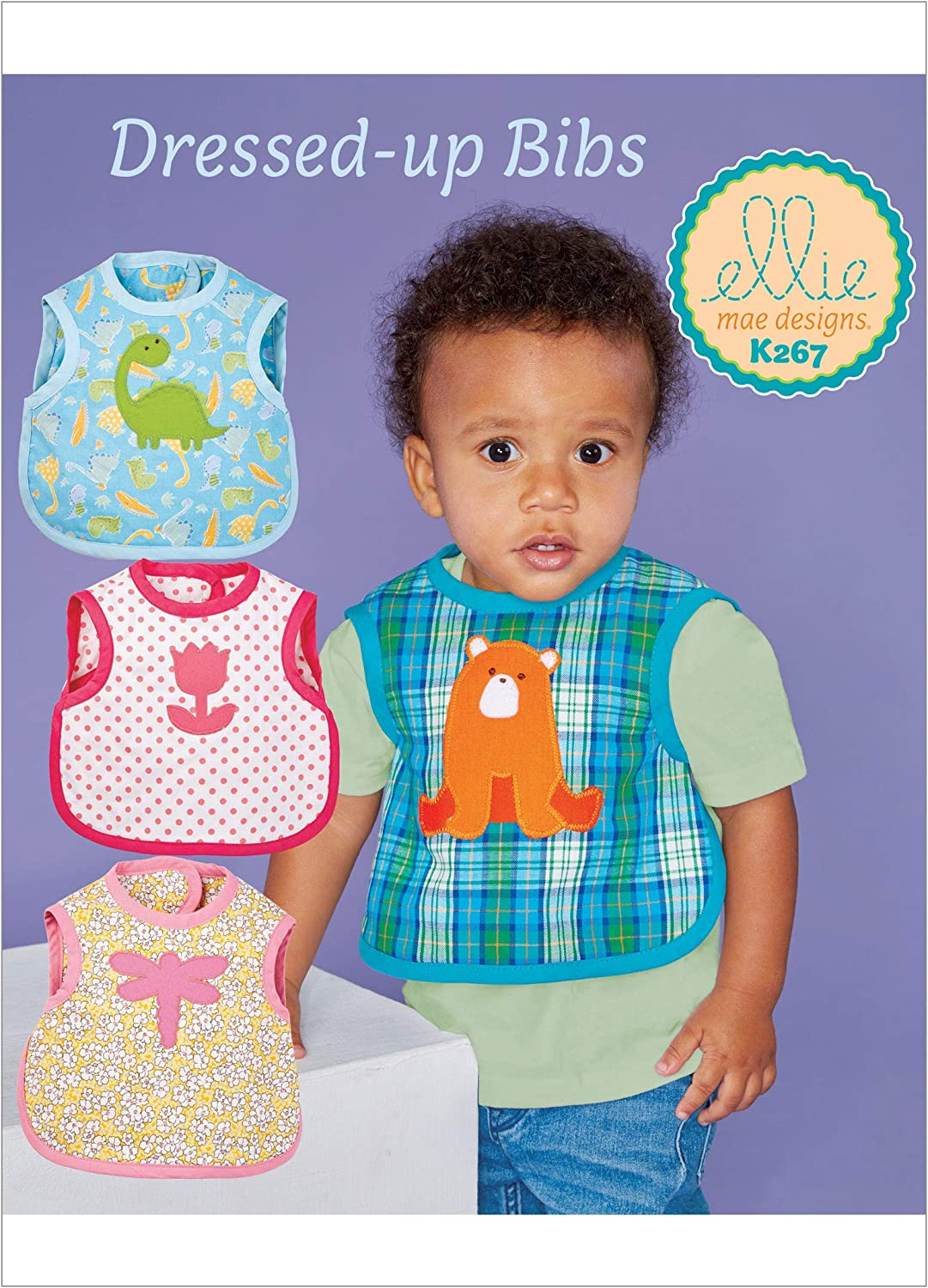 KWIK-SEW PATTERNS Kwik Baby Bib Sewing Pattern by Ellie Mage Designs, One Size Only