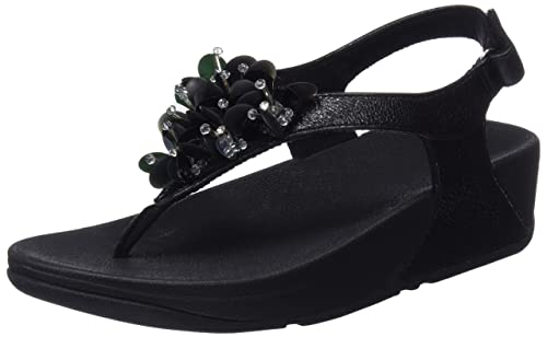37a71c015 Fitflop Women s Boogaloo Back Strap Sandals Sling (Black 001)