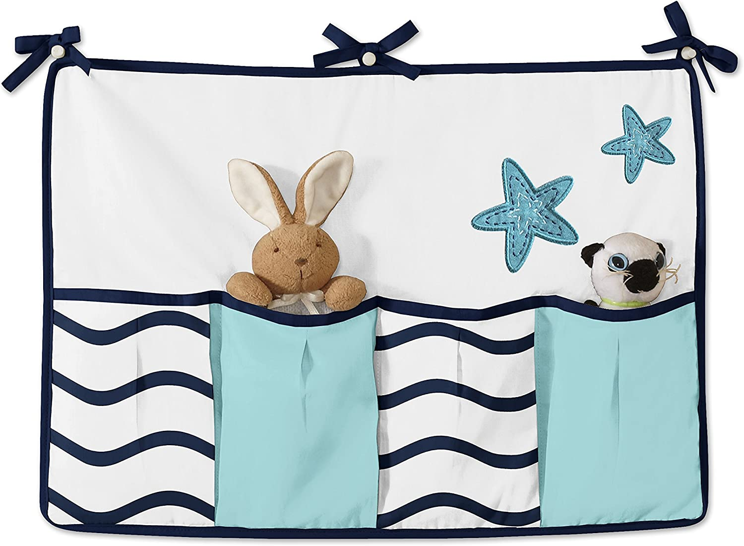 Turquoise Navy Blue and White Whale Nautical Ocean Baby Boys or Girls 9 Piece Crib Bedding Set With Bumper