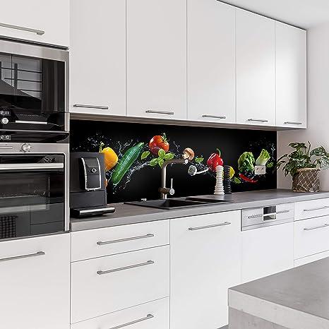 Dedeco Küchenrückwand Motiv Obst Gemüse V1 3mm Acrylglas Plexiglas Als Spritzschutz Für Die Küchenwand Wandschutz Dekowand Wasserfest 3d Effekt Alle Untergründe 260 X 60 Cm Baumarkt