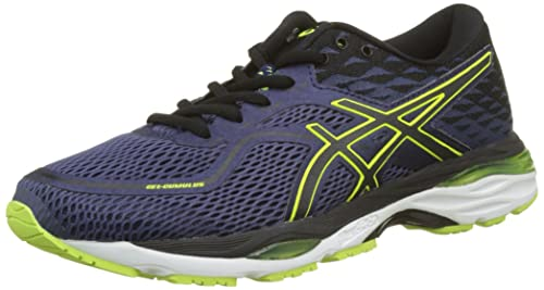 0764d9768 ASICS Men's's Gel-Cumulus 19 Running Shoes, (Indigo Blue/Black/Safety