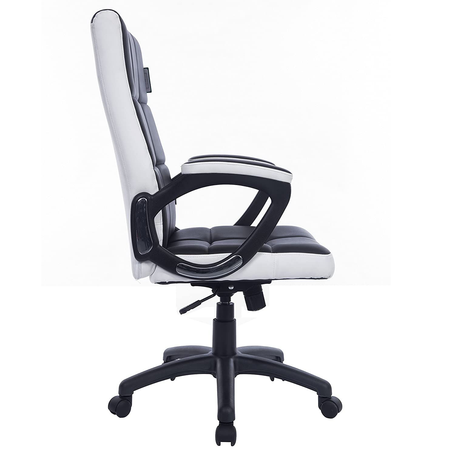 People sitting in waffle chair - Cherry Tree Furniture Waffle Contrasting Panels High Back Pu Leather Swivel Executive Office Chair In 2 Colours Black White Amazon Co Uk Office
