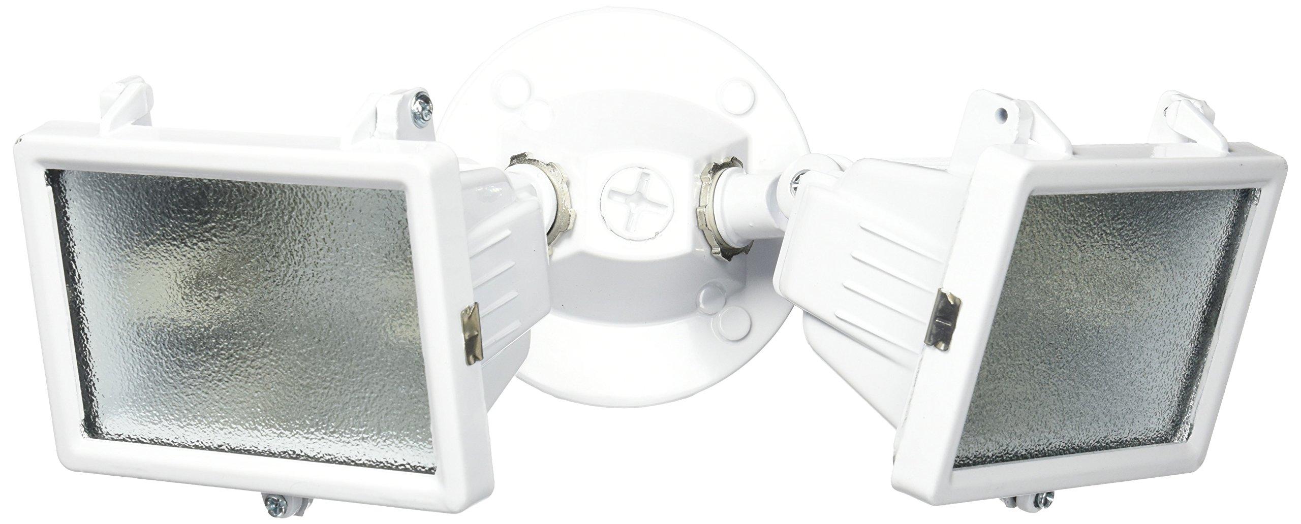 Heath Zenith HZ-5502-WH 150-watt Compact Twin Halogen Floodlight, White by Heath Zenith